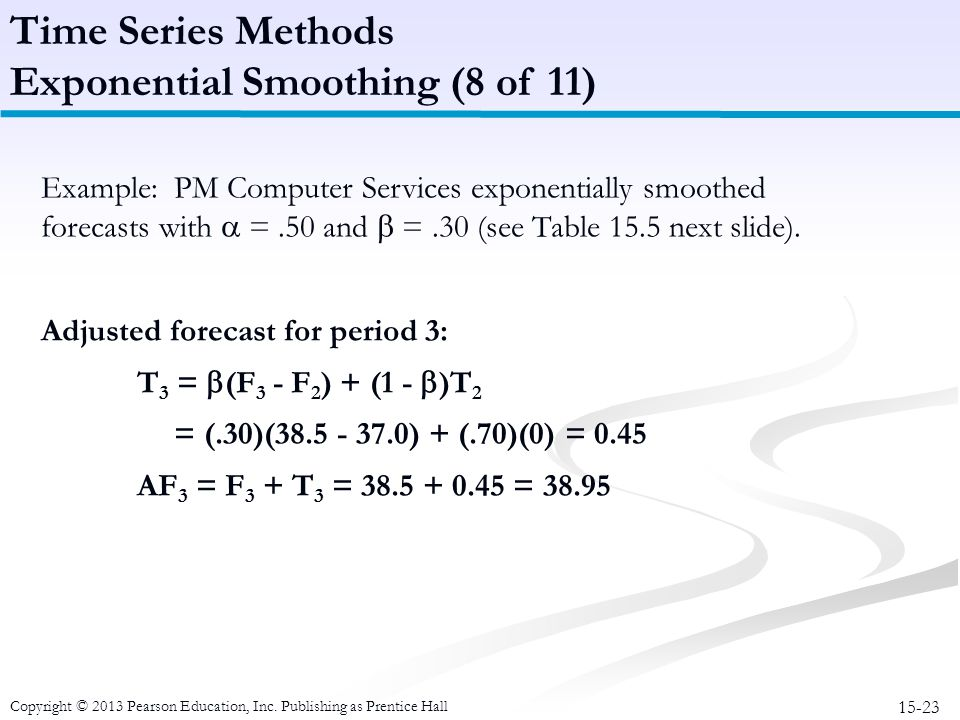 Exponential Smoothing (8 of 11)