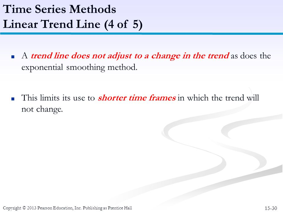 Time Series Methods Linear Trend Line (4 of 5)