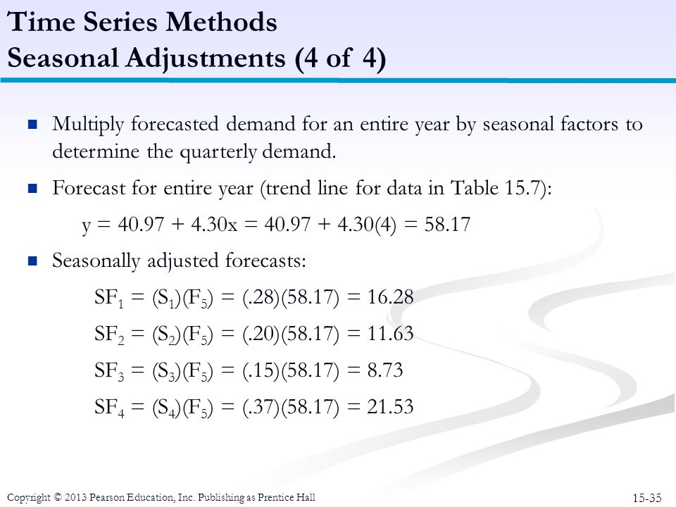 Seasonal Adjustments (4 of 4)