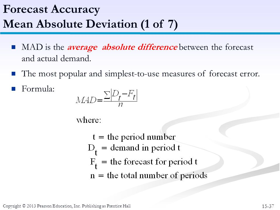 Mean Absolute Deviation (1 of 7)