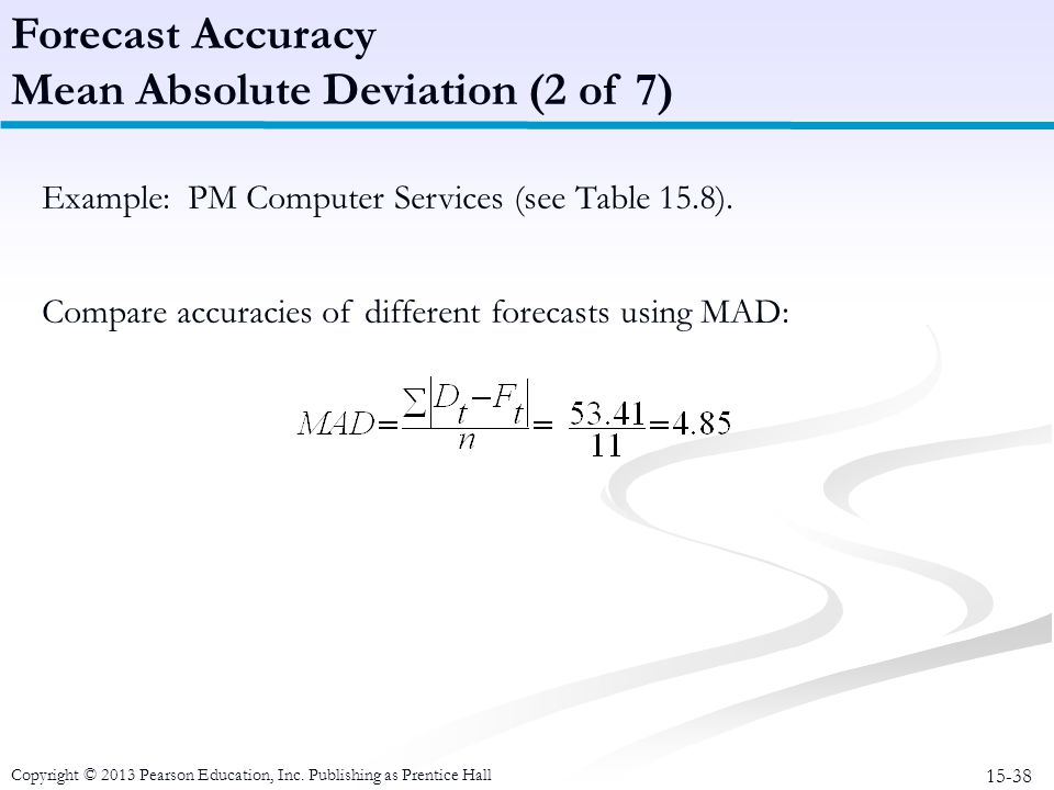 Mean Absolute Deviation (2 of 7)