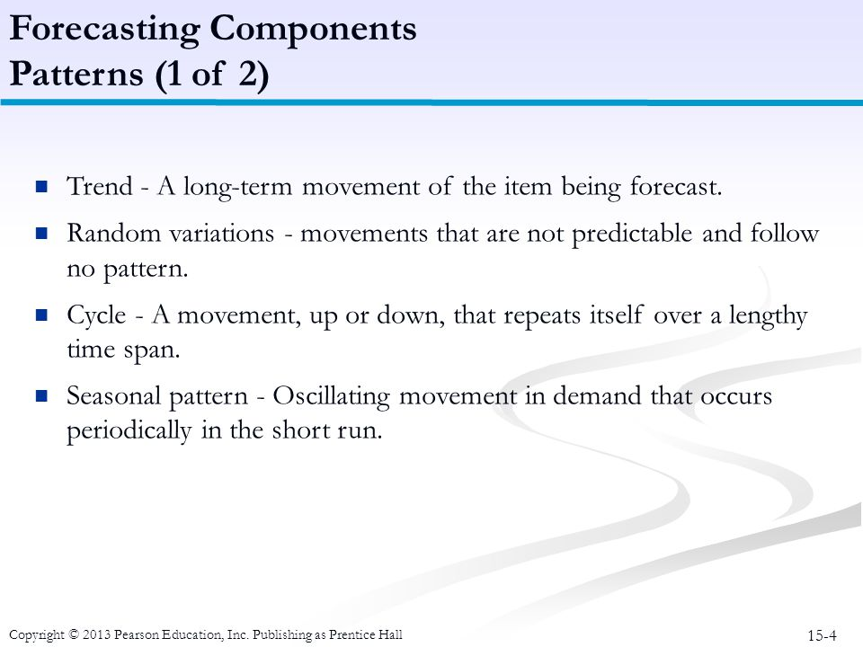 Forecasting Components Patterns (1 of 2)