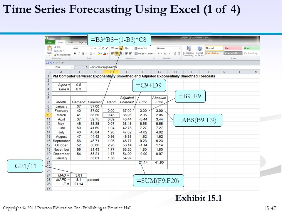 Time Series Forecasting Using Excel (1 of 4)
