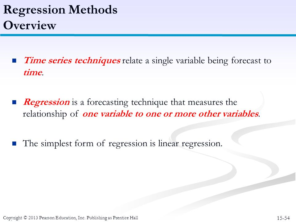 Regression Methods Overview