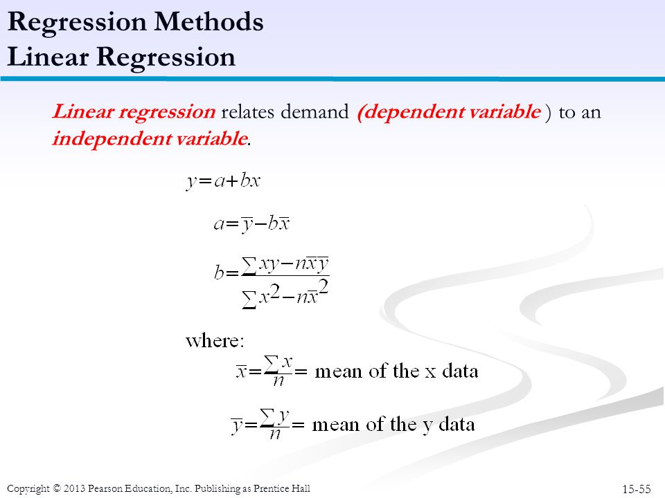Regression Methods Linear Regression