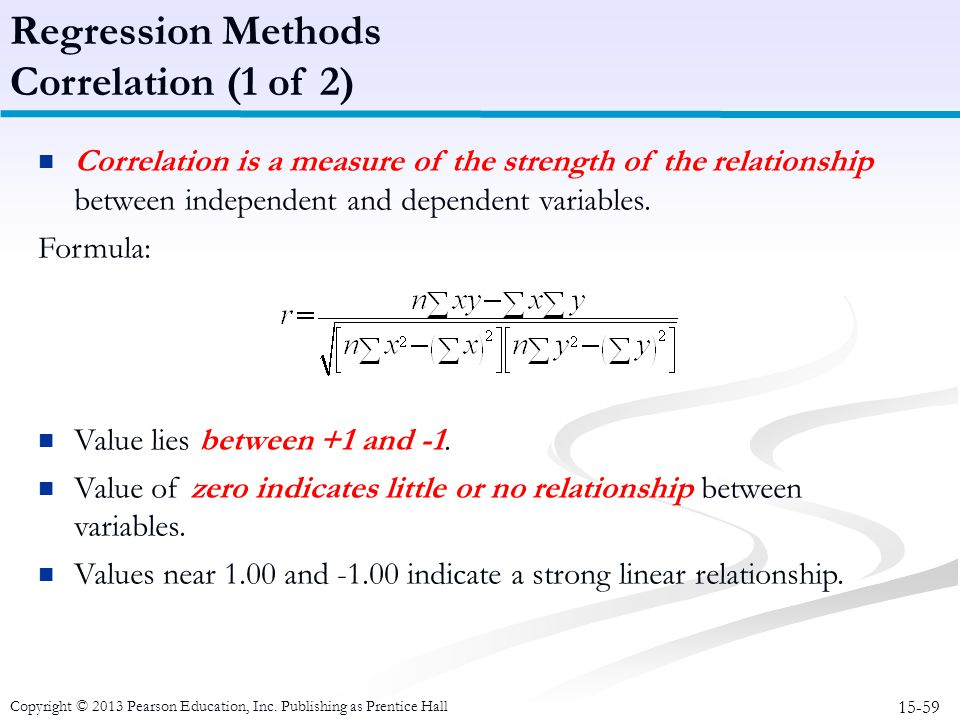 Regression Methods Correlation (1 of 2)