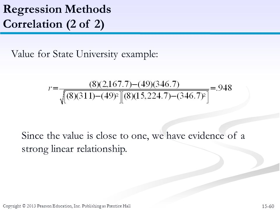 Regression Methods Correlation (2 of 2)