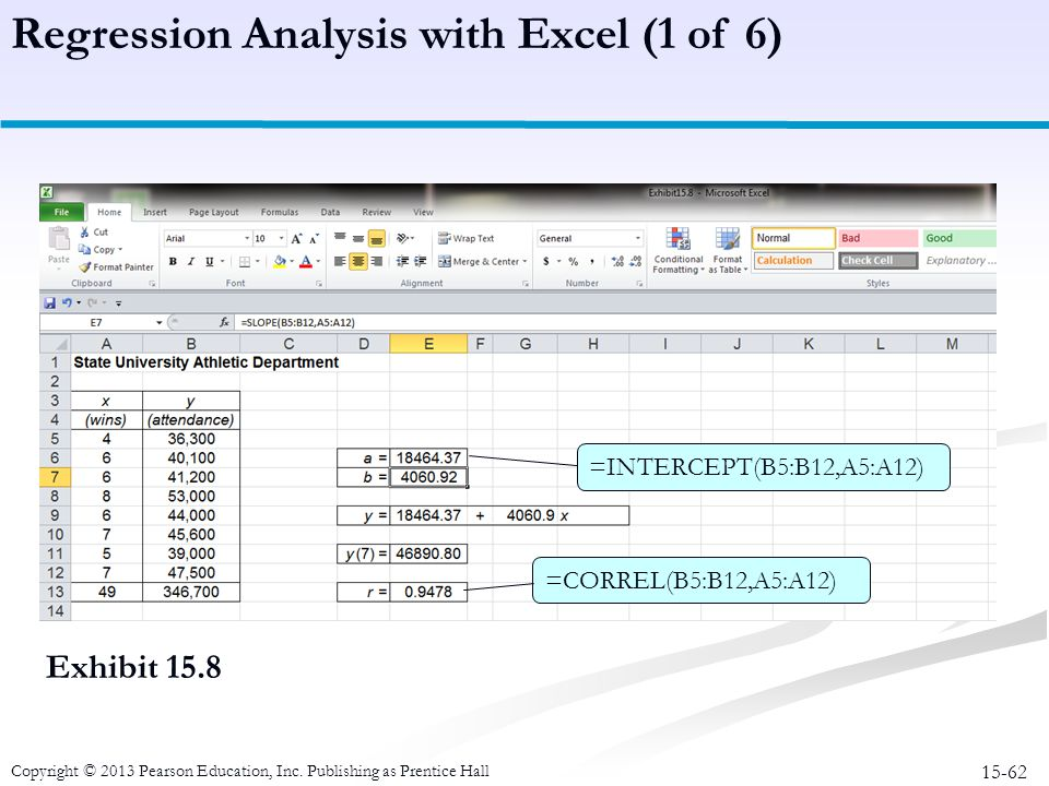 Regression Analysis with Excel (1 of 6)