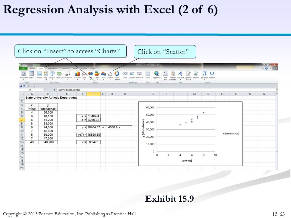 Regression Analysis with Excel (2 of 6)