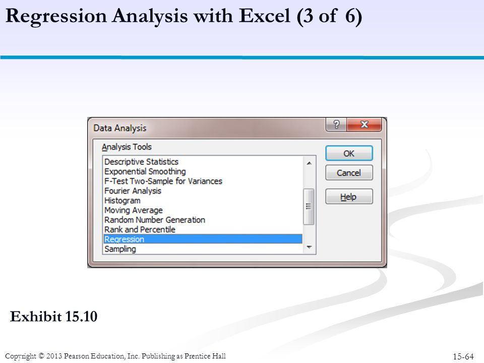 Regression Analysis with Excel (3 of 6)