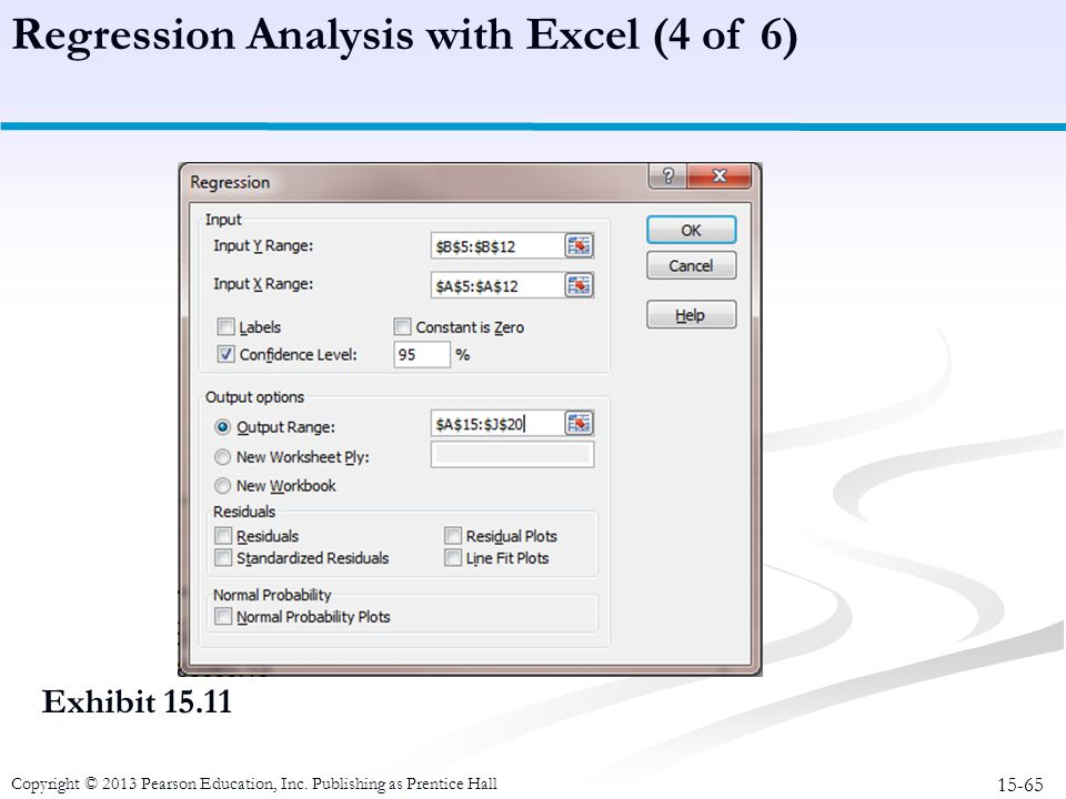 Regression Analysis with Excel (4 of 6)