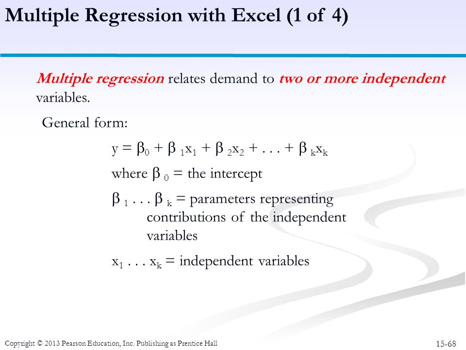 Multiple Regression with Excel (1 of 4)