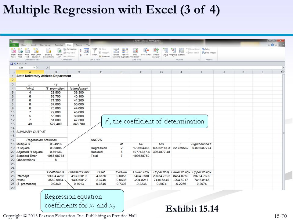 Multiple Regression with Excel (3 of 4)