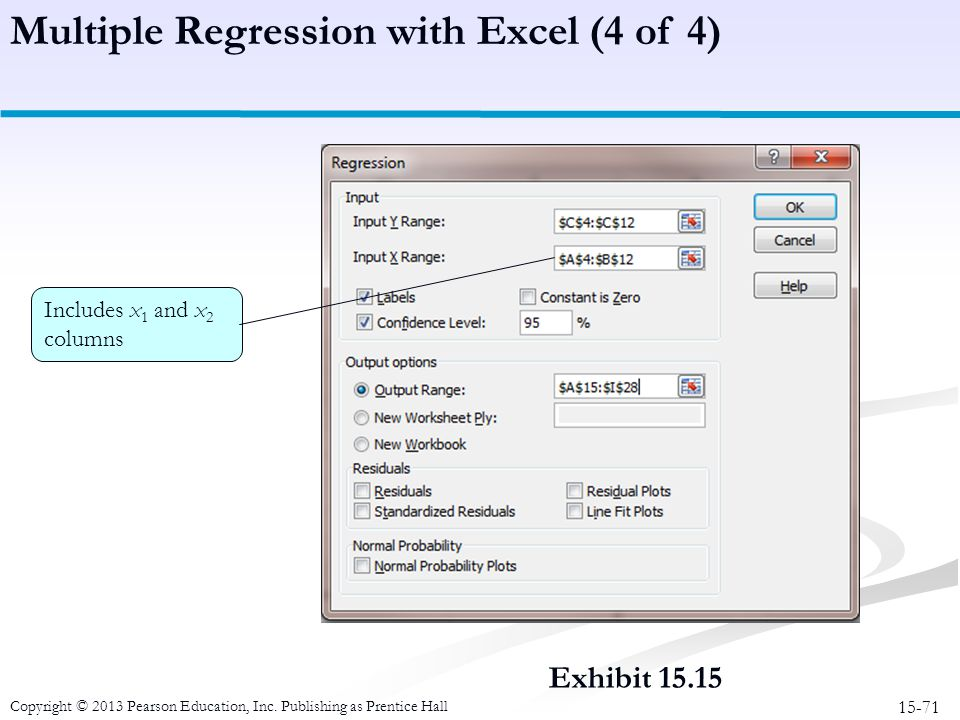 Multiple Regression with Excel (4 of 4)