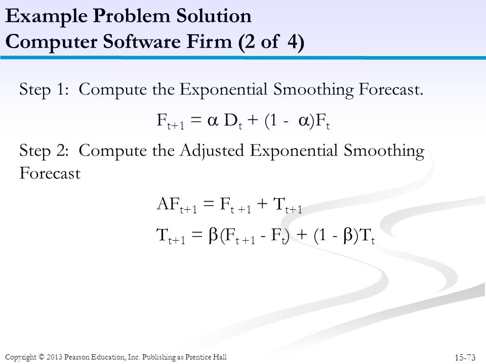 Example Problem Solution Computer Software Firm (2 of 4)