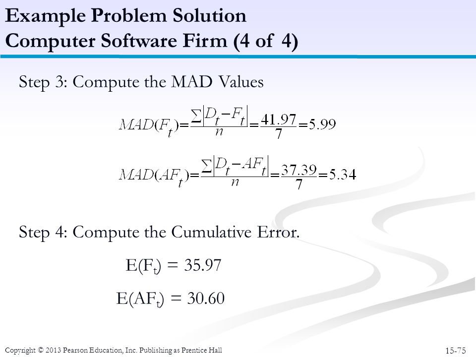 Example Problem Solution Computer Software Firm (4 of 4)