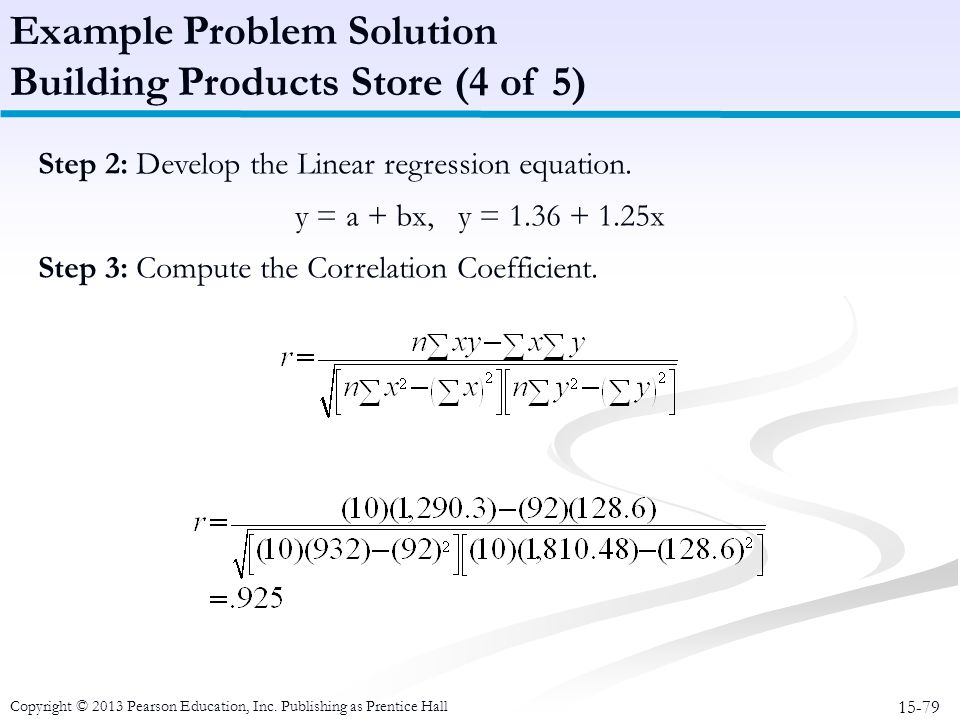 Example Problem Solution Building Products Store (4 of 5)