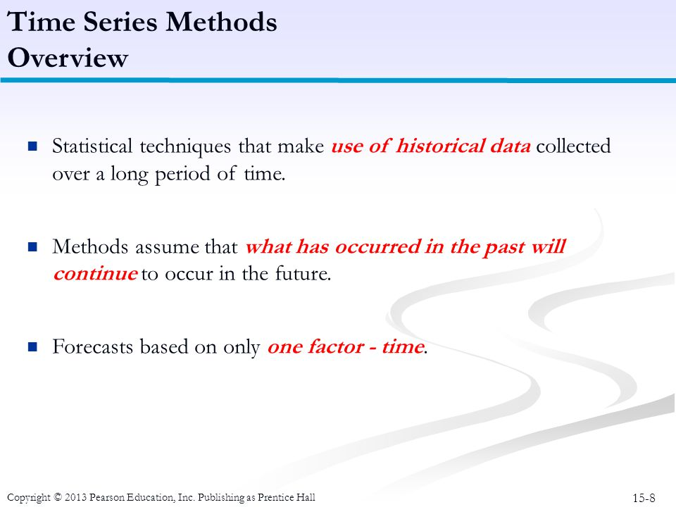 Time Series Methods Overview
