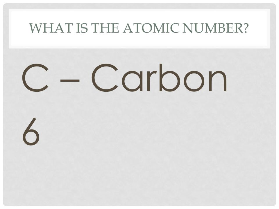 What is the atomic number