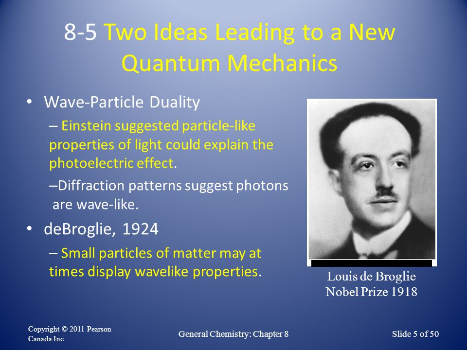 8-5 Two Ideas Leading to a New Quantum Mechanics