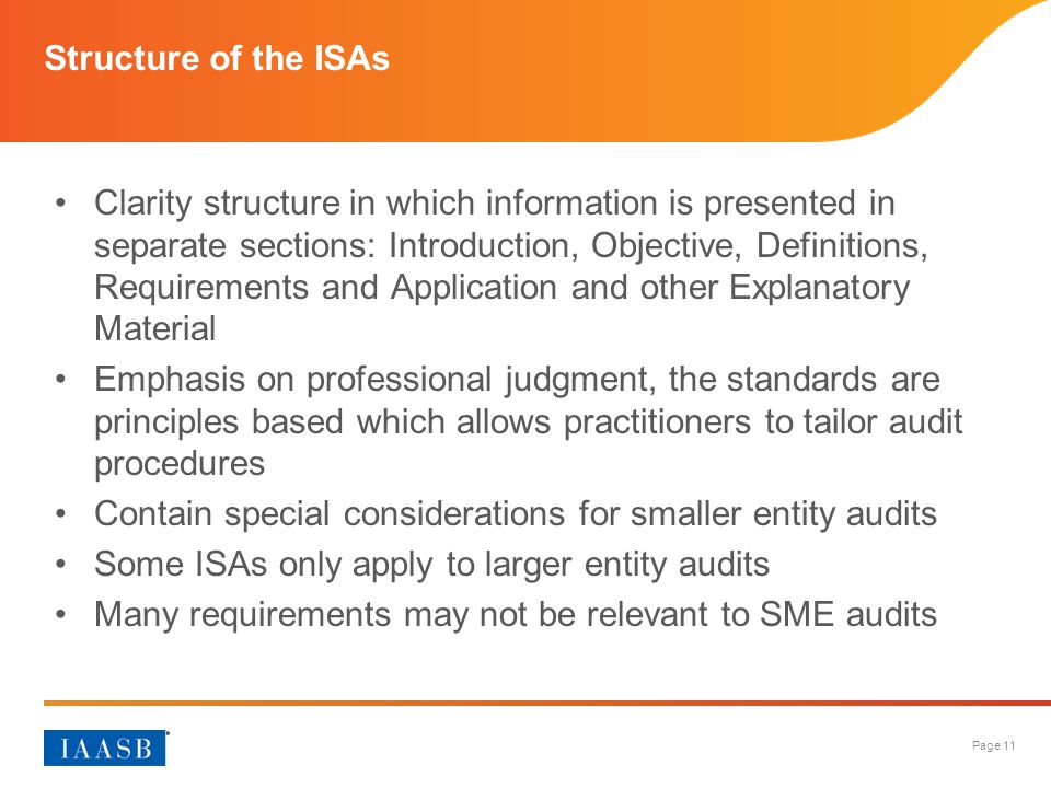 Structure of the ISAs