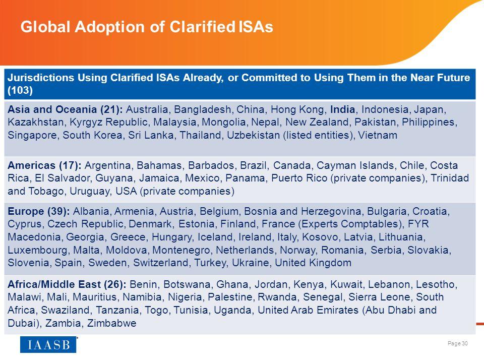 Global Adoption of Clarified ISAs
