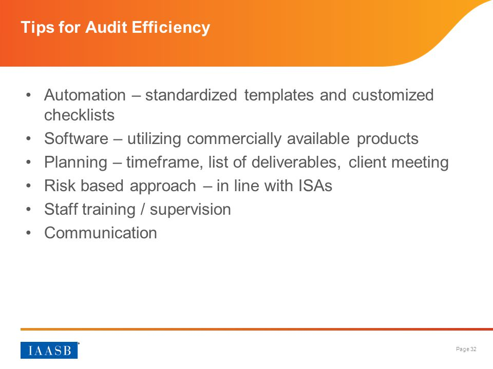 Tips for Audit Efficiency