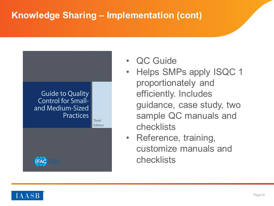 Knowledge Sharing – Implementation (cont)