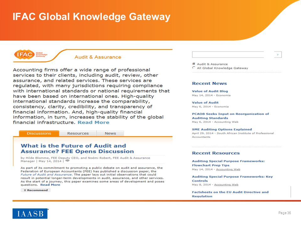 IFAC Global Knowledge Gateway