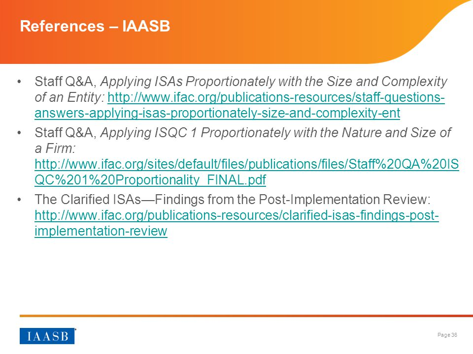 References – IAASB