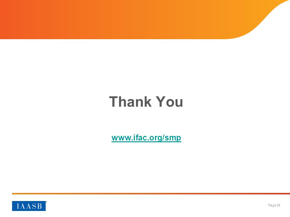 Thank You www.ifac.org/smp