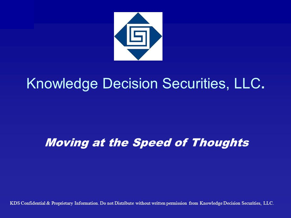 Knowledge Decision Securities, LLC.
