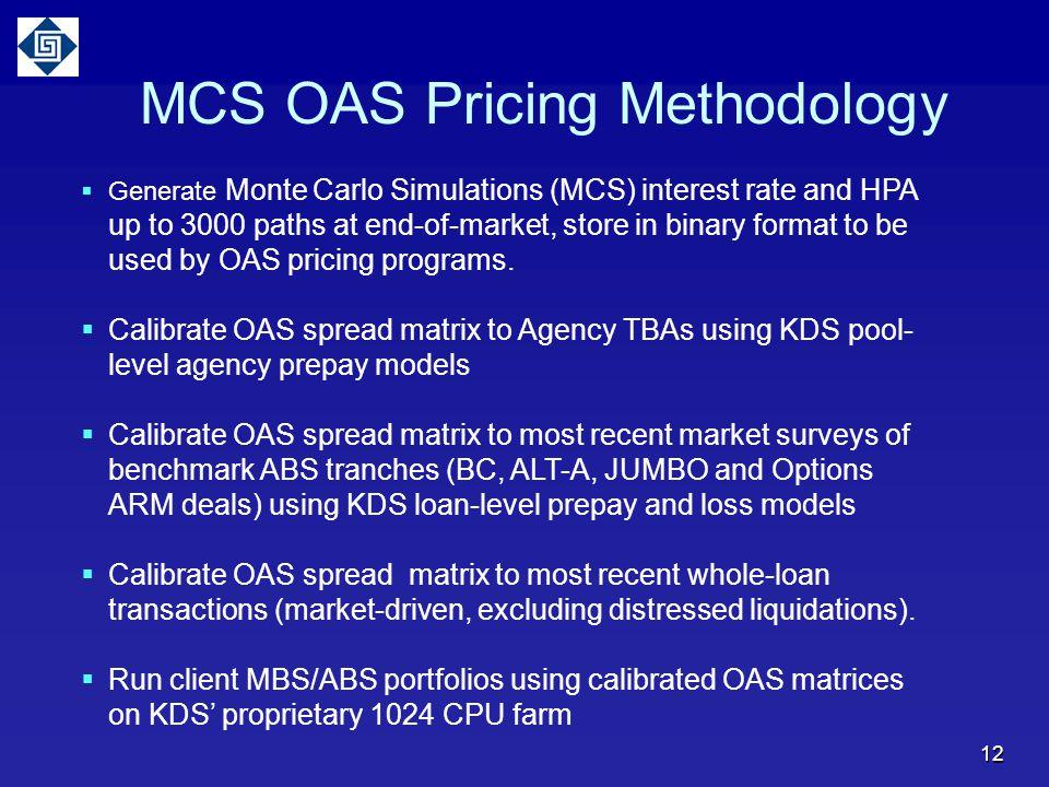 MCS OAS Pricing Methodology