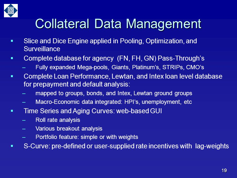 Collateral Data Management