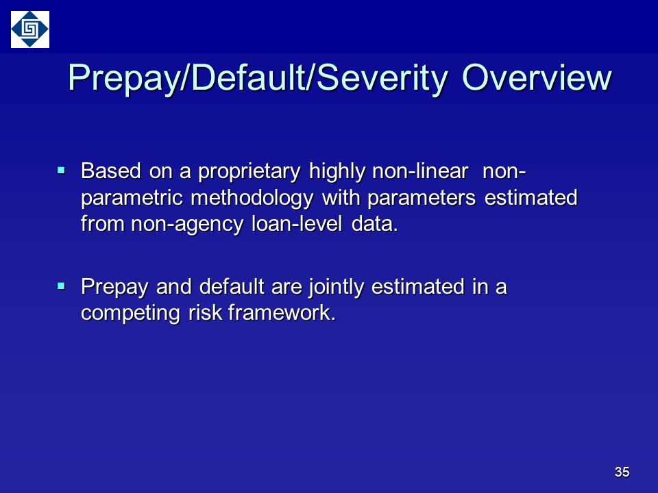 Prepay/Default/Severity Overview