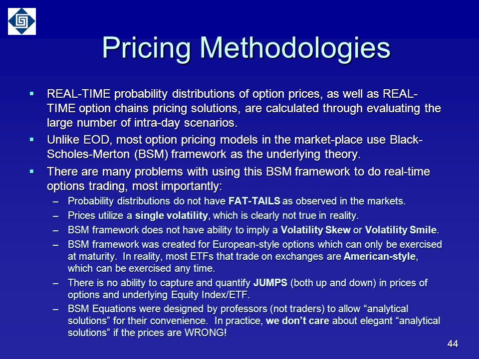 Pricing Methodologies