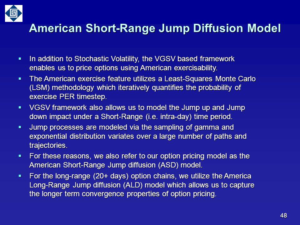 American Short-Range Jump Diffusion Model
