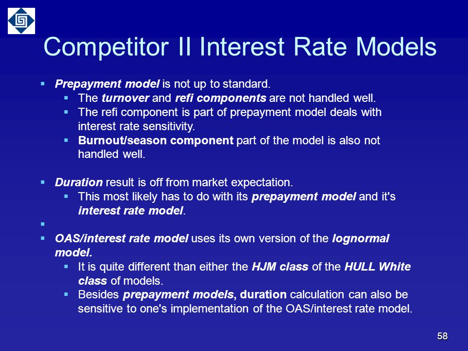 Competitor II Interest Rate Models