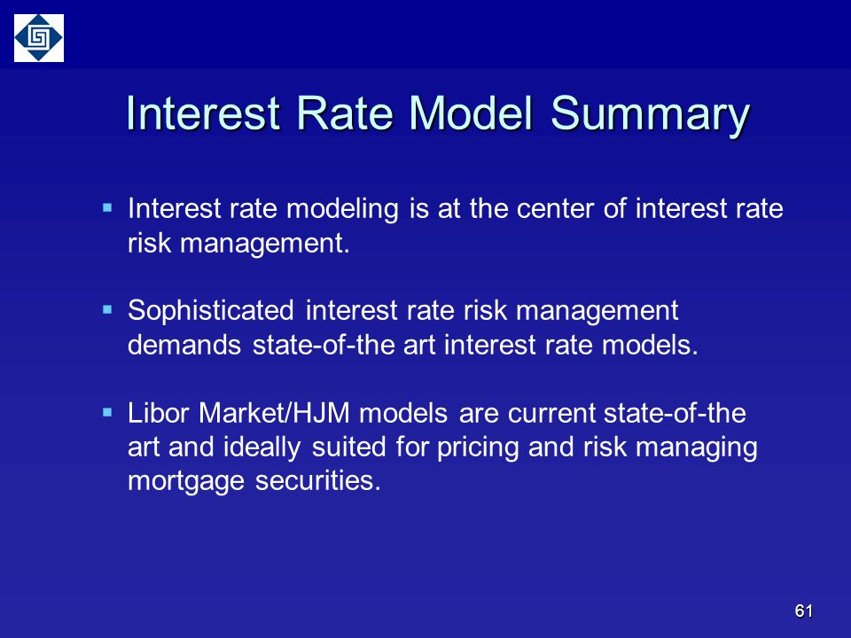 Interest Rate Model Summary