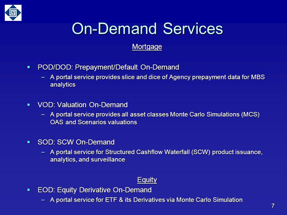 On-Demand Services Mortgage POD/DOD: Prepayment/Default On-Demand
