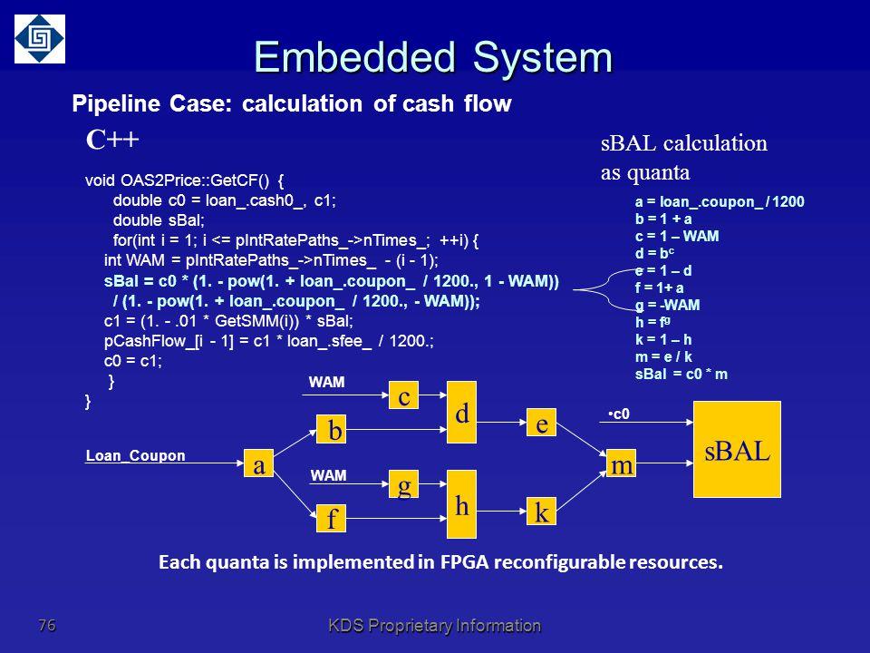Pipeline Case: calculation of cash flow
