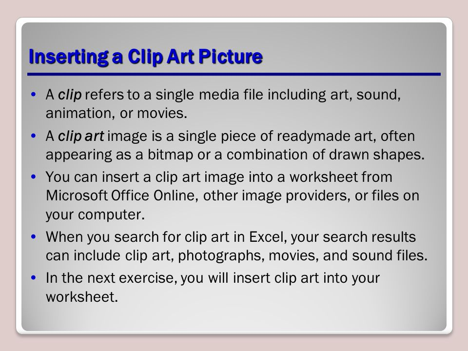 Inserting a Clip Art Picture
