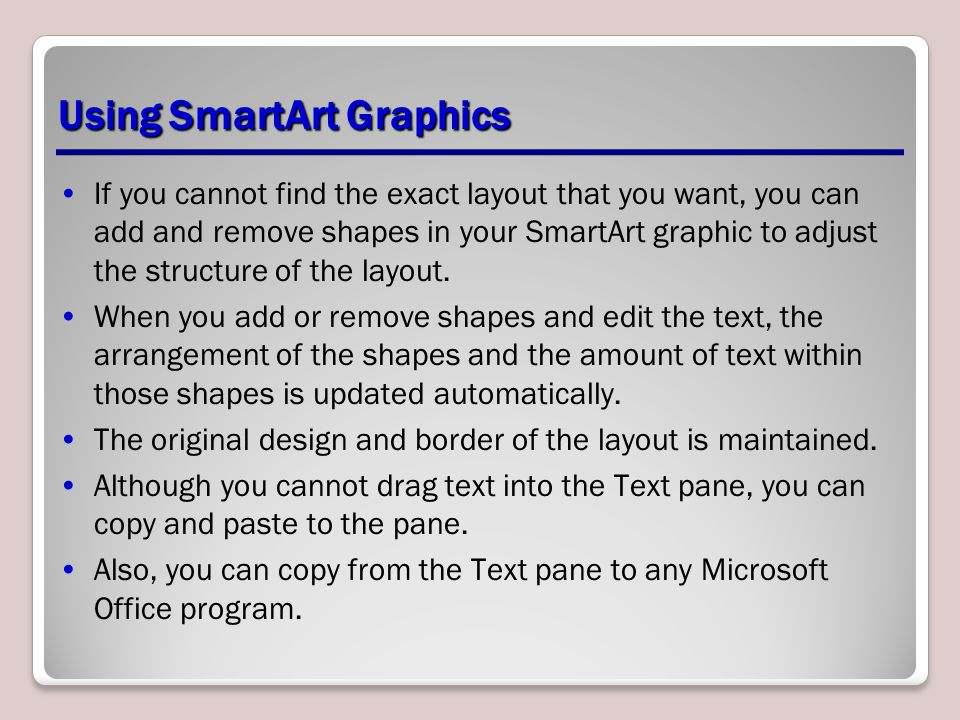Using SmartArt Graphics