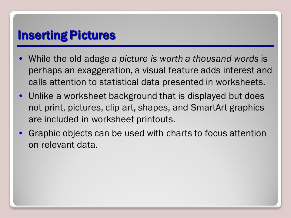 Inserting Pictures