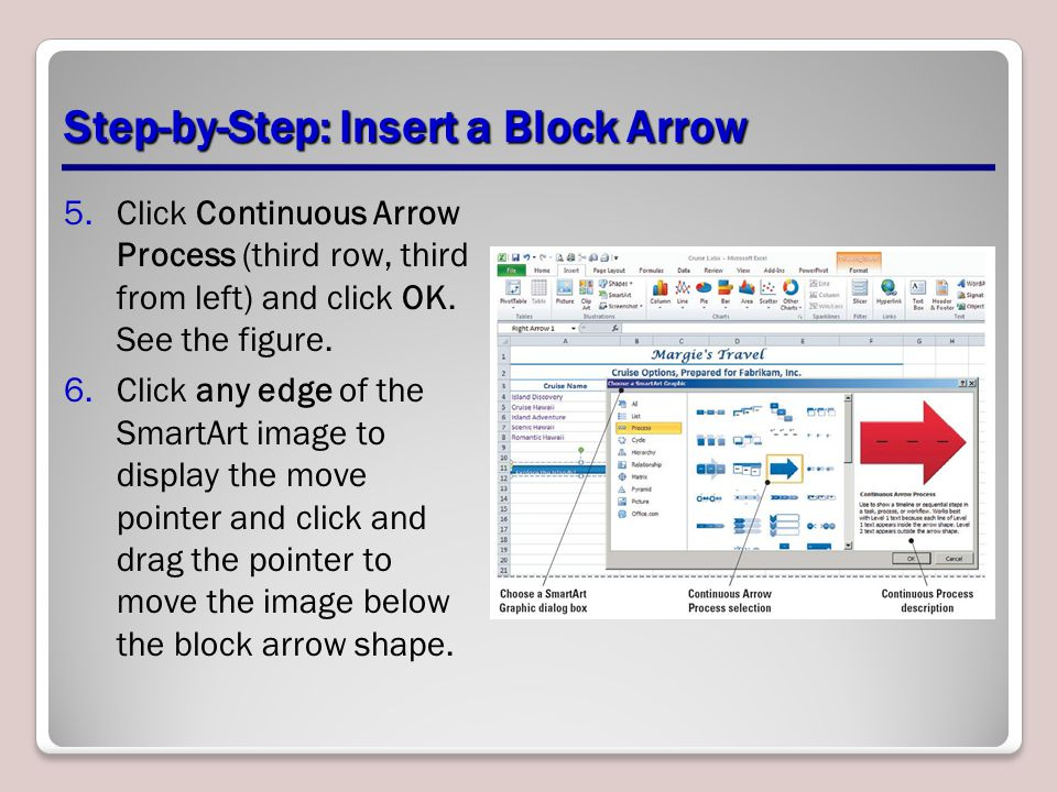 Step-by-Step: Insert a Block Arrow
