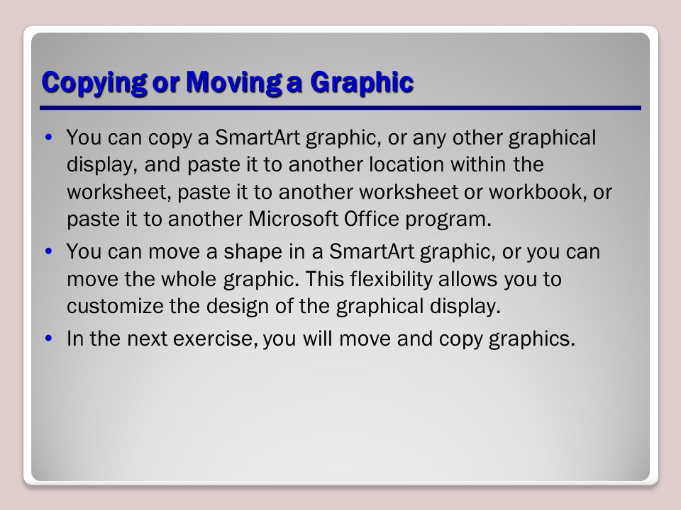 Copying or Moving a Graphic