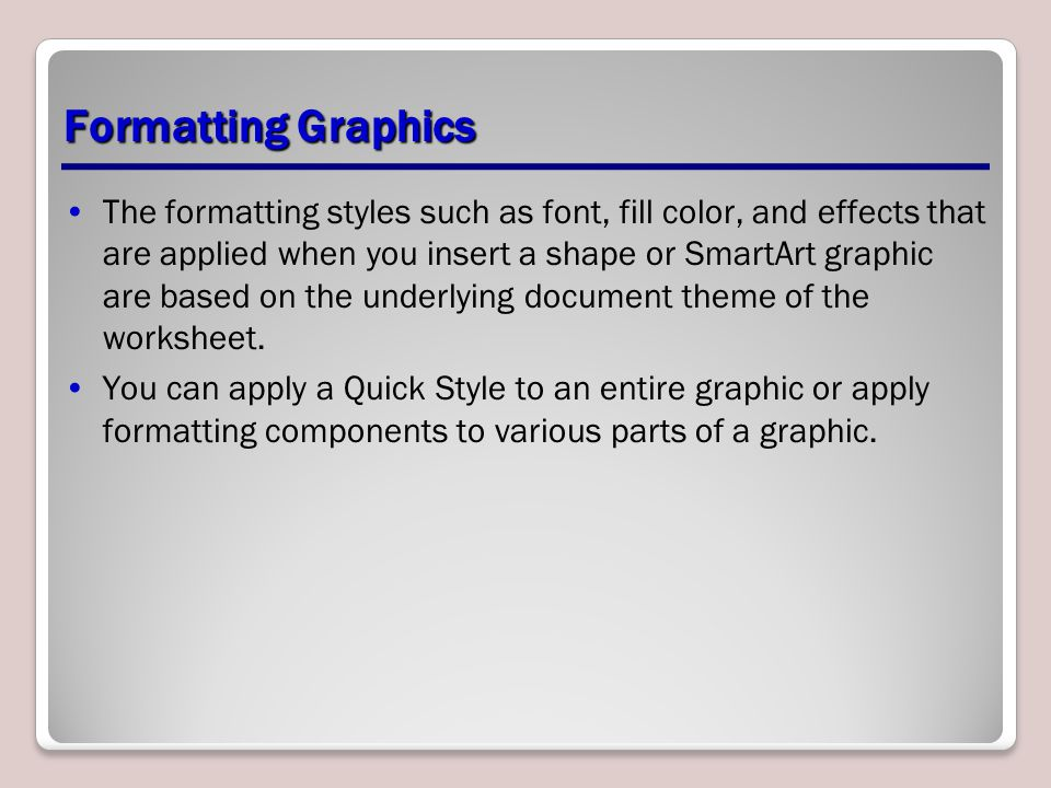 Formatting Graphics