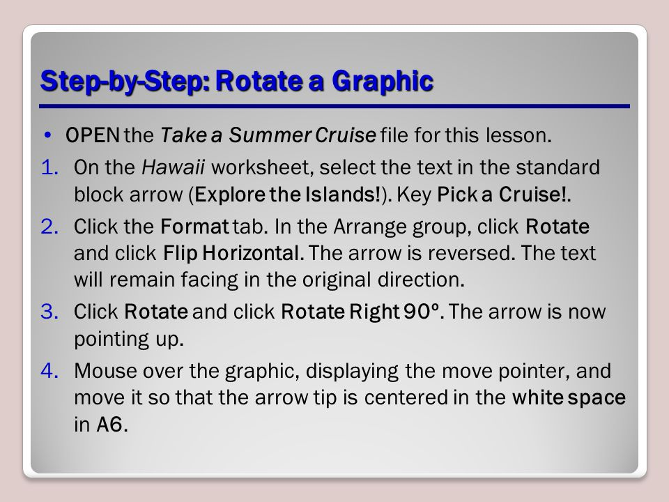 Step-by-Step: Rotate a Graphic