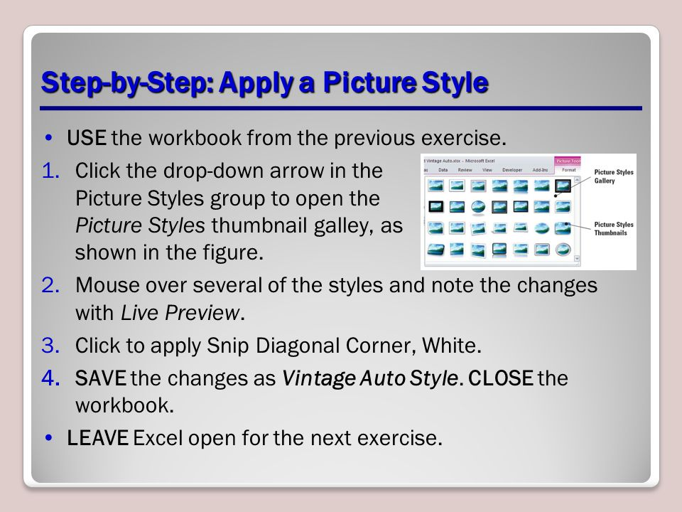 Step-by-Step: Apply a Picture Style