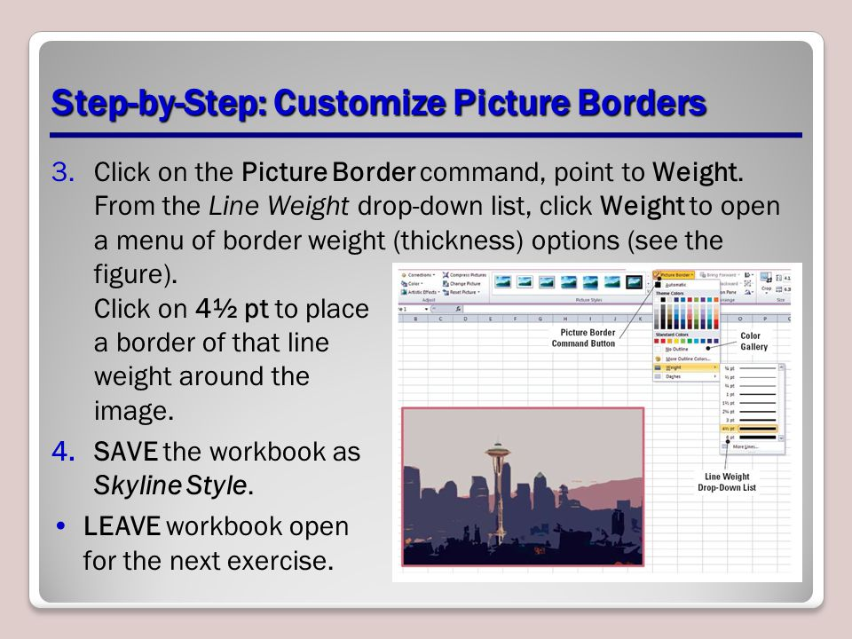 Step-by-Step: Customize Picture Borders